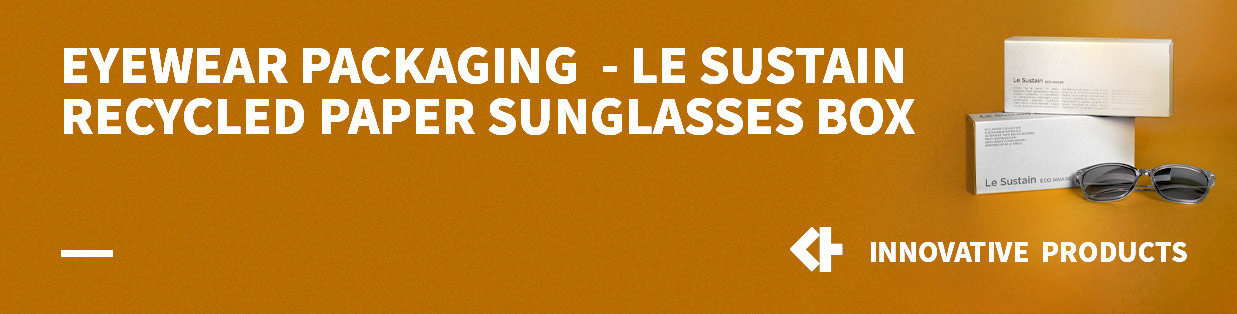 Eyewear packaging – Le Sustain Recycled Paper Sunglasses box